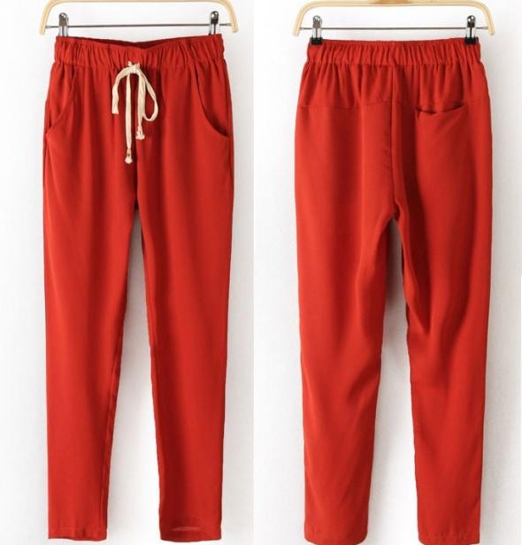 Szyfonowe spodnie VJ Style S M