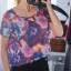 Kolorowa bluzka oversize Romwe