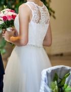 Suknia ślubna S36 na 164cm 8cm obcas OKAZJA...
