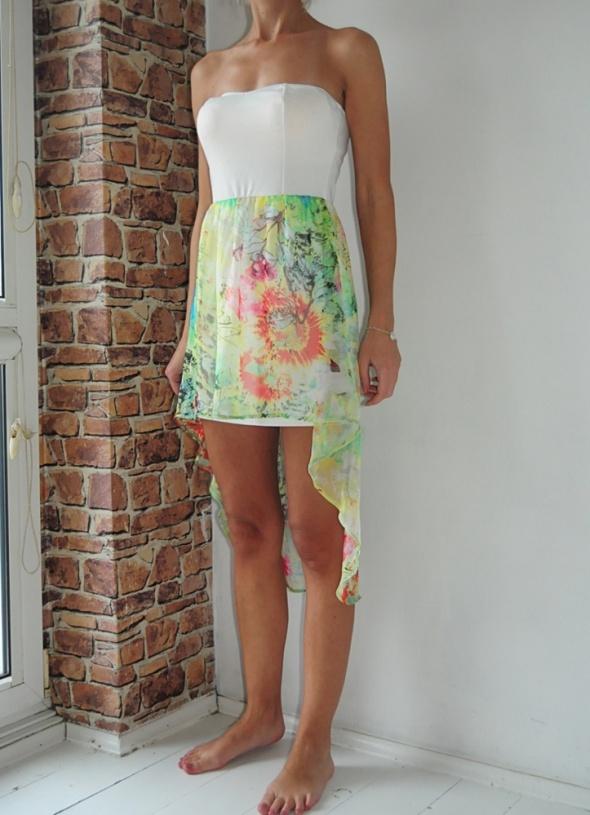 Oh My Love sukienka asymetryczna kwiaty 38