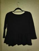 Czarna elastyczna bluzka baskinka falbanka 42 44...