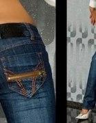 Jeansowe rurki XS zamki