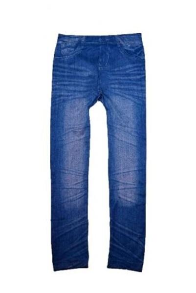 Leginsy getry rurki imitacja dżinsu