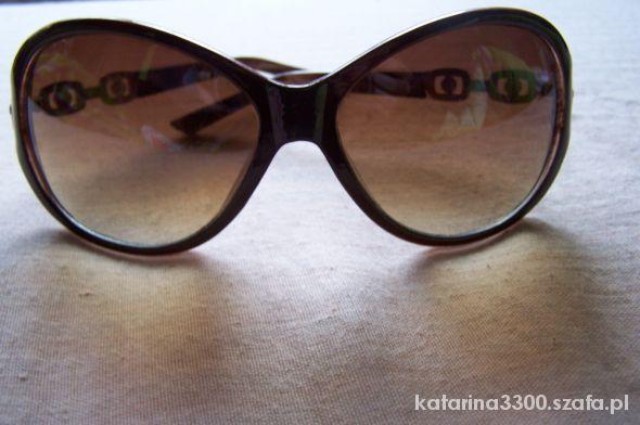 Brązowe okulary przeciwsłoneczne
