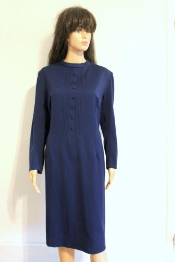 Elegancka sukienka vintage granatowa r około 42...