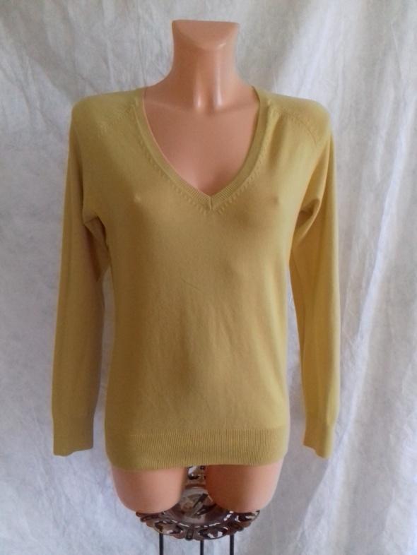 Musztardowy sweterek Zara L