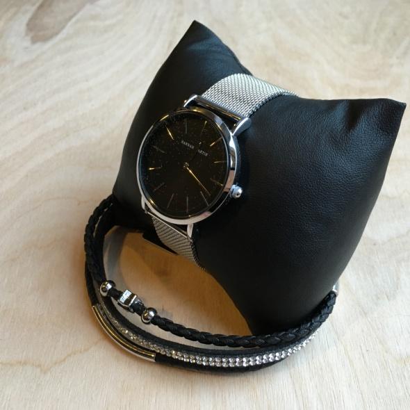 Zegarek damski na bransoletce HANNAH MARTIN srebrny