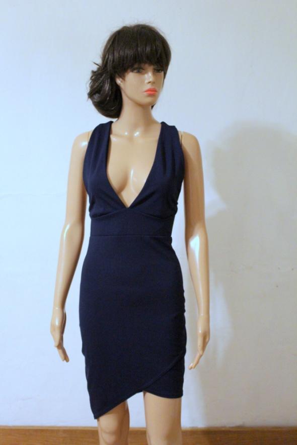 Asymetryczna elegancka sukienka r L...
