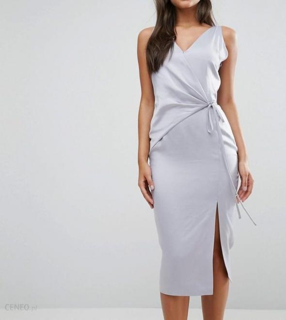 Nowa z metką sukienka wiązanie midi elegancka Lavish Alice wizytowa