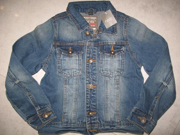 NEXT chłopięca kurtka jeansowe roz 116
