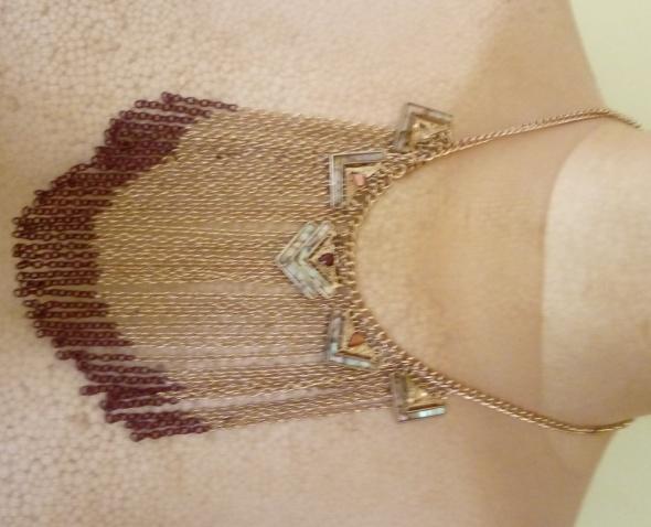 złoto brązowy naszyjnik