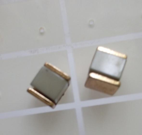 kolczyki kwadraty trzy pary