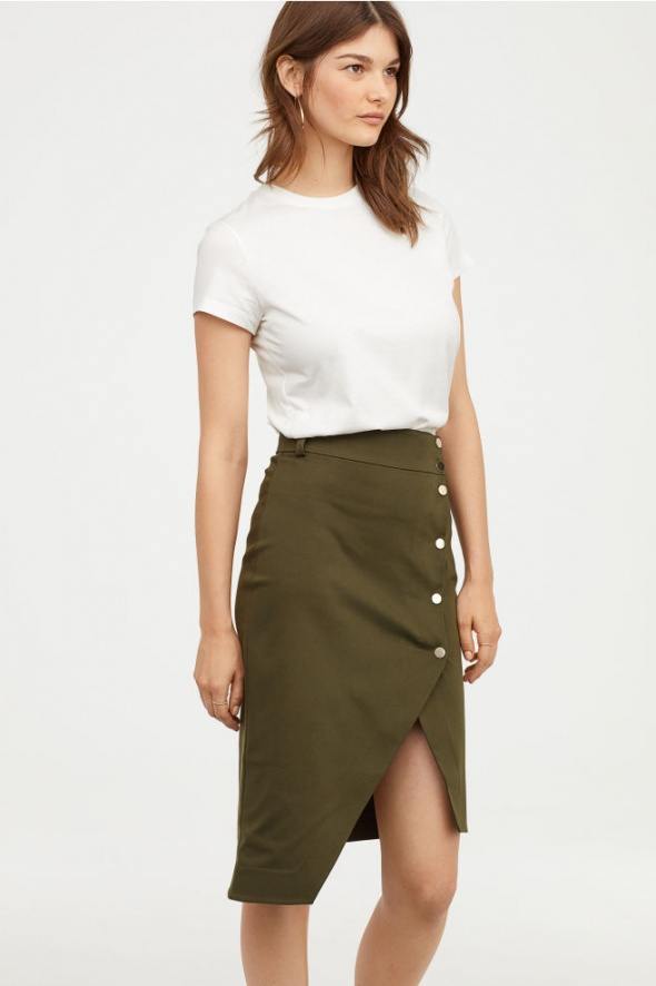 Asymetryczna spódnica h&m...