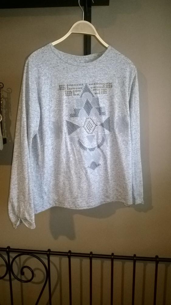 Szara koszulka z wzorem oruginalna house...