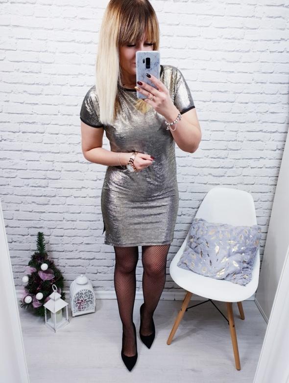 Sukienka złota Kala