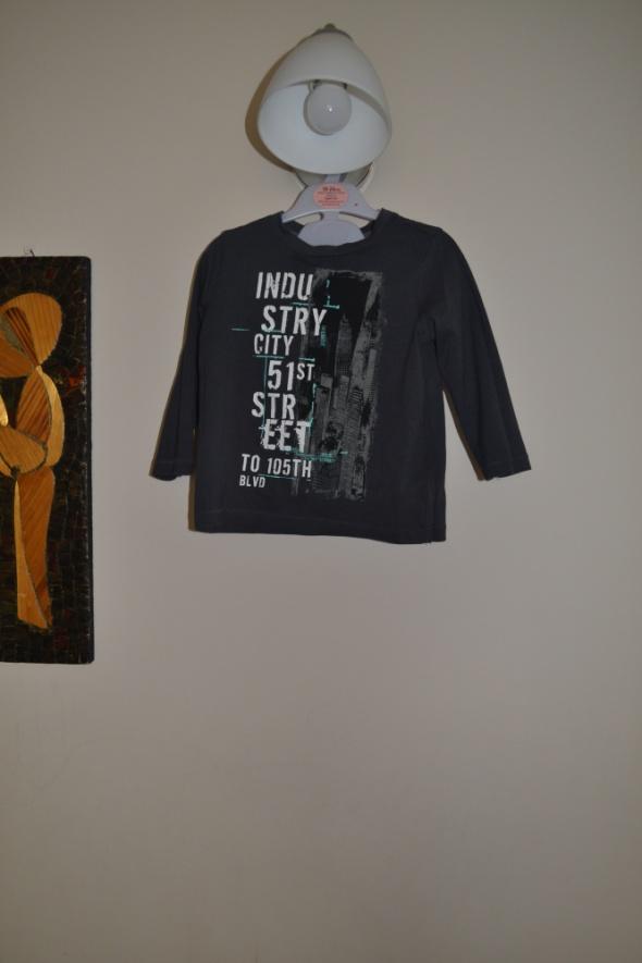 Bluzka F&F grafitowa 18 24mc 2 3 lata 86cm