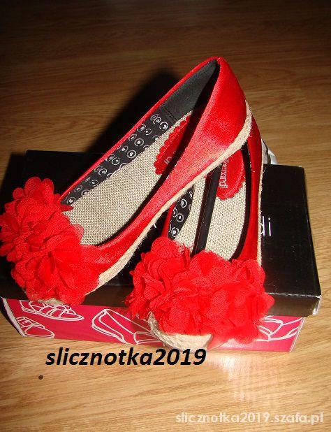 Nowe balerinki 17cm czerwone