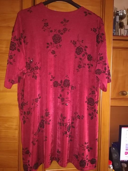 Ładna burgundowa bluzka dla puszystej 48 50