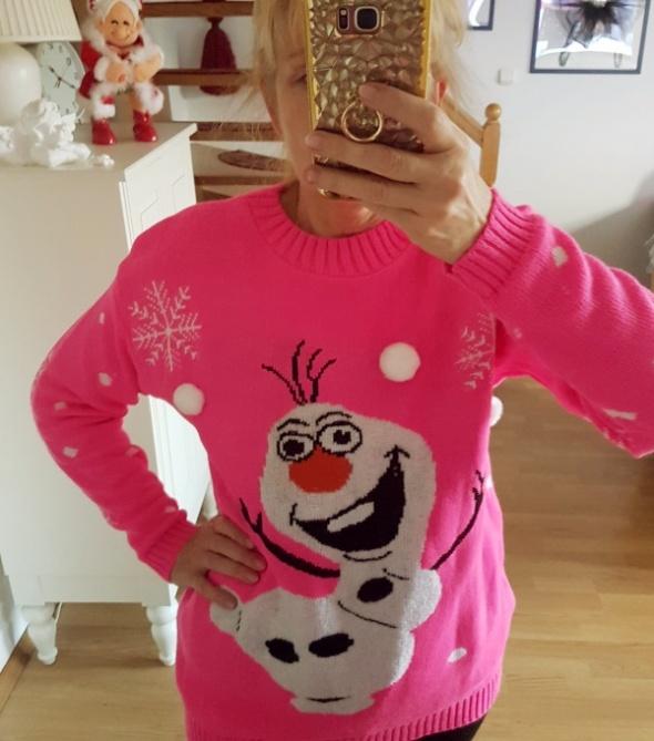 Sweter świąteczny Olaf 3D rozm L
