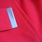 Kopertowa czerwona spódnica midi z paskiem r S