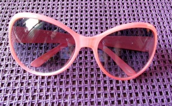Urocze różowe pastelowe okulary