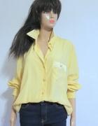 Żółtalejąca koszula haftowany kołnierzyk r XL...