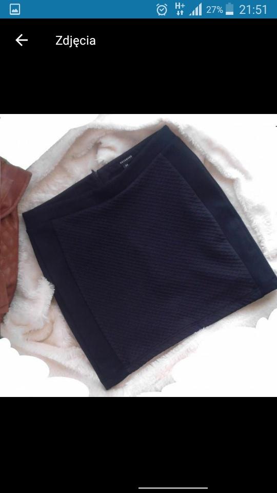 Czarna spódniczka xs s reserved wysoki stan dopasowana