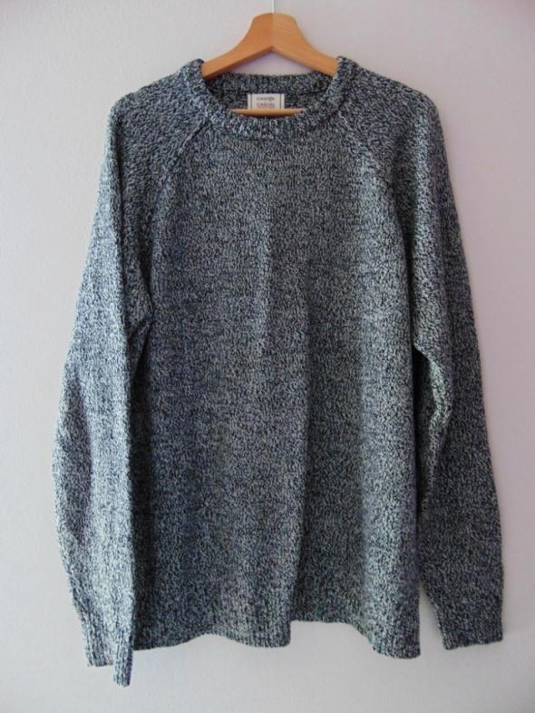 Męski szary sweter melanż L George długi rękaw