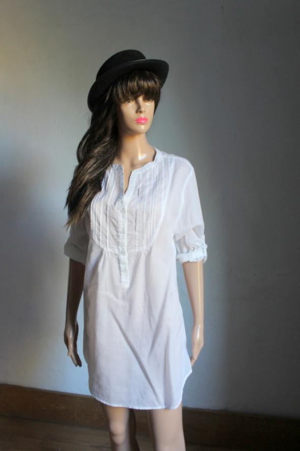 Biała koszula rękawki jedna druga idealna na ciążę r około L...