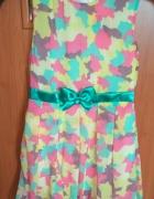 Nowa sukienka wyjściowa szyfonowa kolorowa bombka 134...