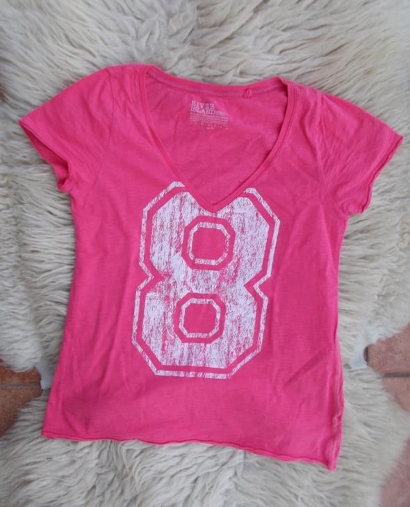 koralowa bluzeczka z numerkiem
