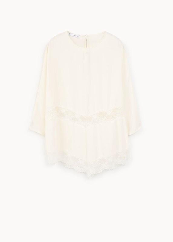 Biała koronkowa bluzka Mango XS nowa z metką