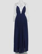 Granatowa długa sukienka jak lou maxi