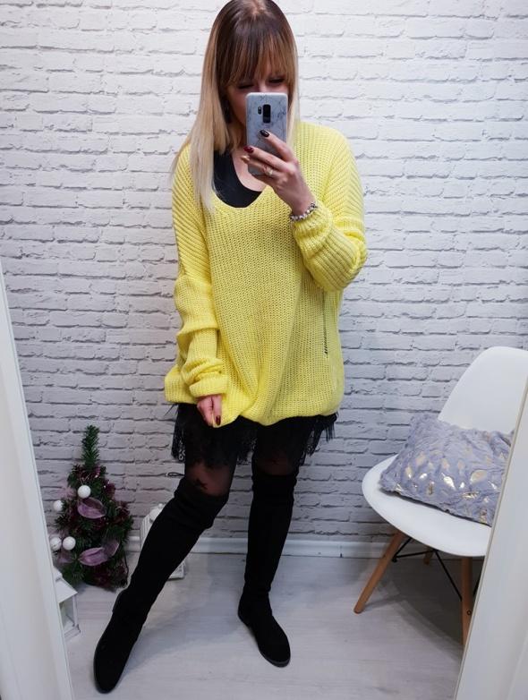 Sweter żółty bird