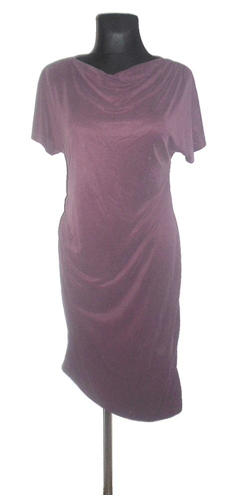 TOPSHOP dzianinowa sukienka asymetryczna r 38