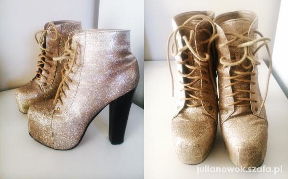 buty złote brokatowe...