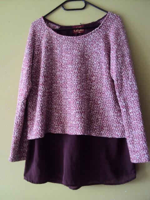 melanżowa bluzka 2w1