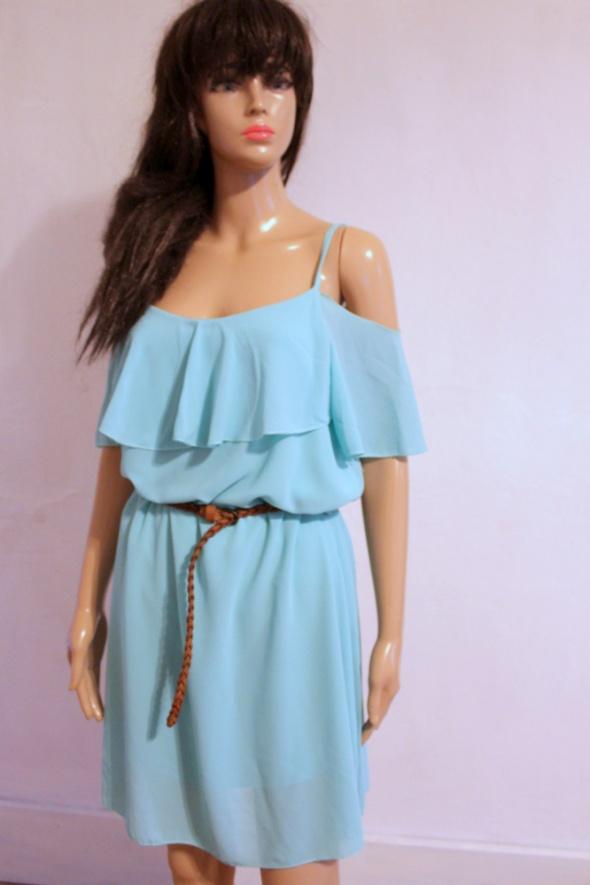 Miętowa sukienka hiszpanka r około L...