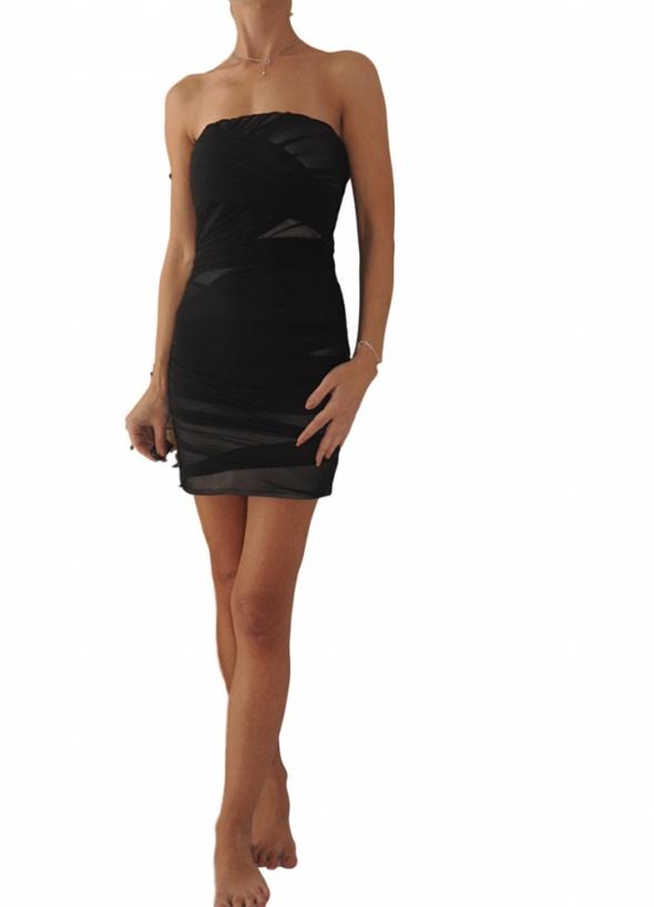 Topshop sukienka czarna mini 36