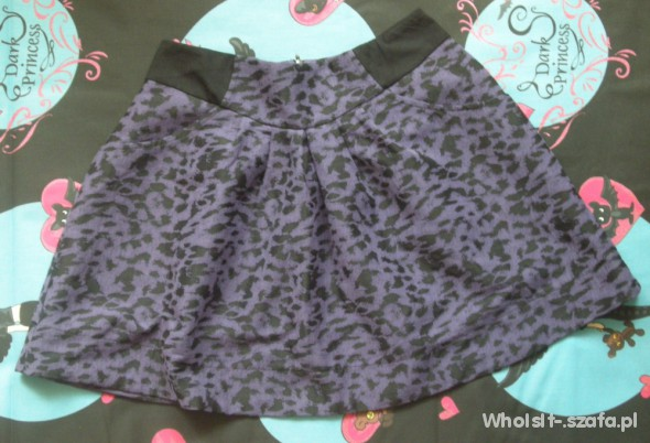 NEXT fioletowa spódnica PANTERKA 38 S M rockabilly
