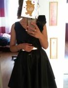 Czarna Sukienka rozkloszowana HIT XS S