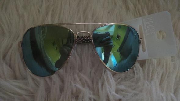 Okulary przeciwsłoneczne turkusowe House