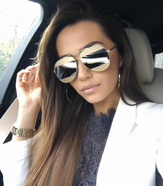 Okulary przeciwsłoneczne lustrzanki złote srebrne DIOR SPLIT