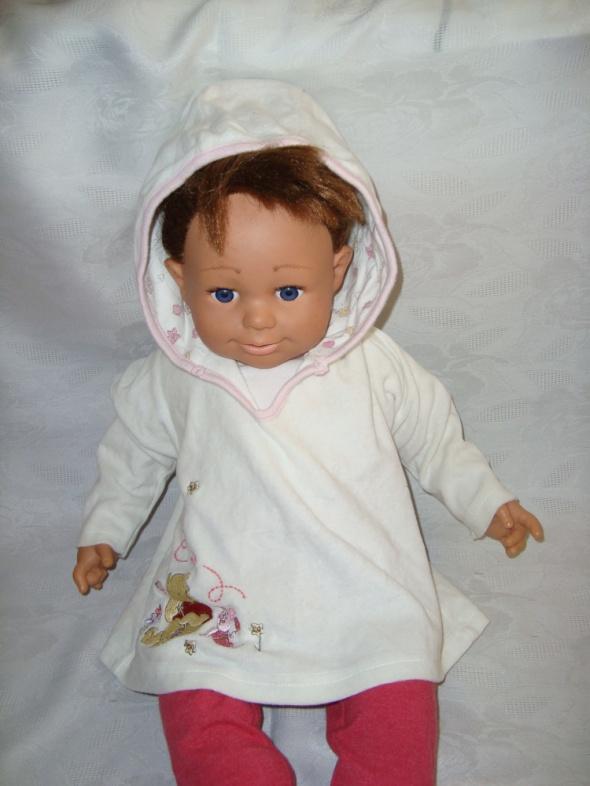 Disney biała welurowa bluza roz 6 9 msc 68 74 cm