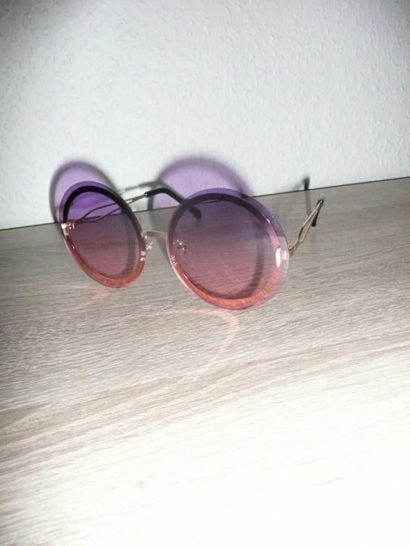 okulary okrągłe różowe lenonki