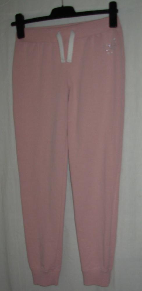 Różowe spodnie dresowe 140 cm 10 lat