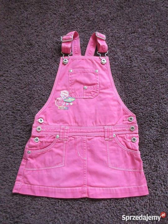 Jeansowa sukienka ogrodniczka na 2 3 lata