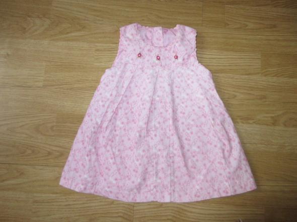 Różowa sukienka na 6 do 9 mcy GRATIS rajstopki