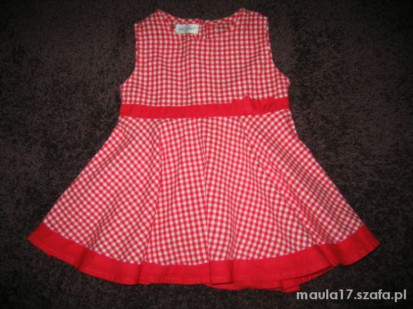 Sukienka retro rozkloszowana kratka 3 do 6 m cy