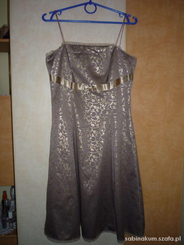 Złocista sukienka